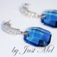 So Chic Jewels 925 Sterling Silver Blue Cubic Zirconia Fairy Firefly Elf Pendant Sold alone: chain not included